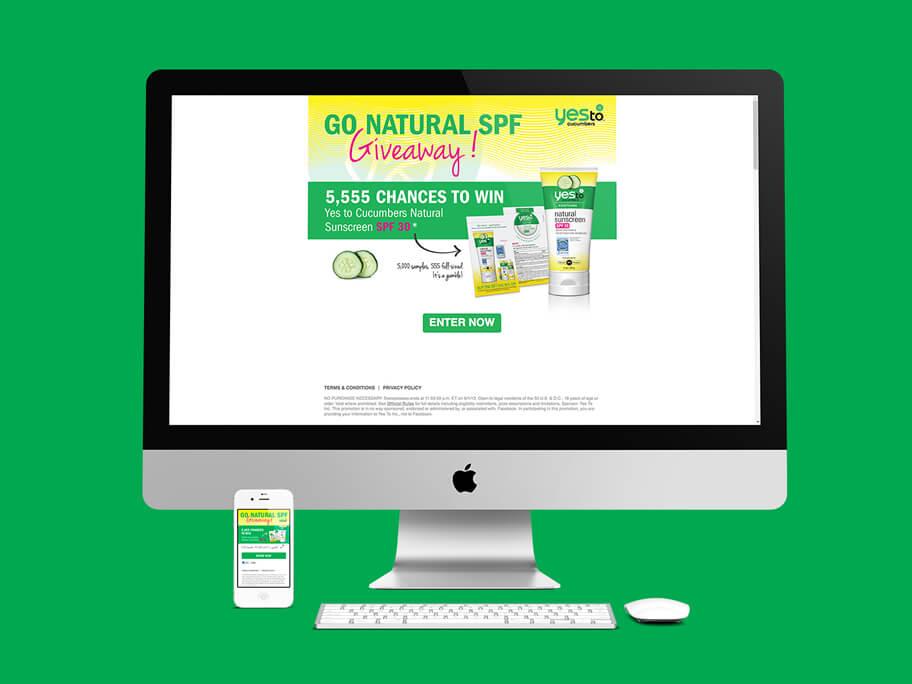Yes To Cucumbers, diseño de página web en HTML5