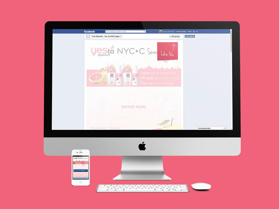 Yes To Grapefruit, diseño de página web en HTML5