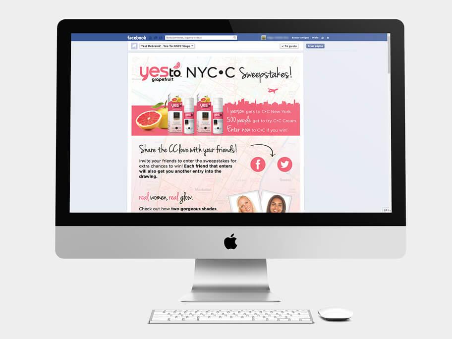 Yes To Grapefruit, página de gracias compartir, en computadores